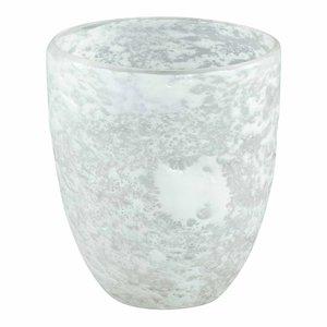 Lona white glass vase round M