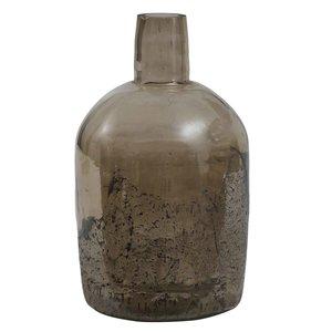 Cate Brown Glass Vase Bottle Shape L