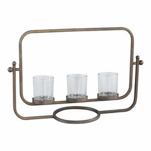Odin brass iron candle holder 3 vases