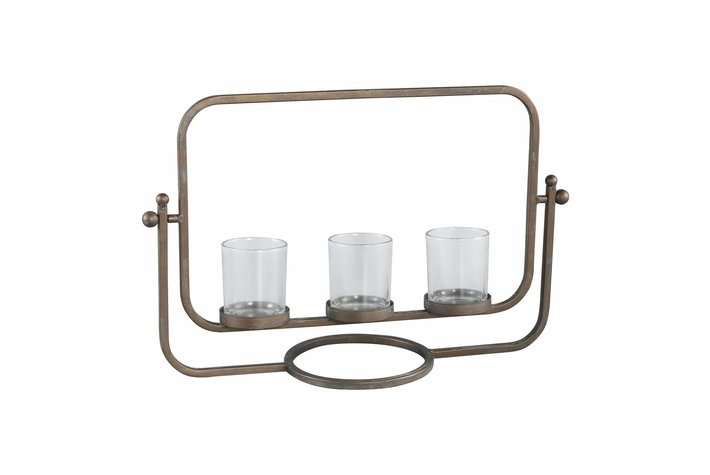 PTMD Odin brass iron candle holder 3 vases
