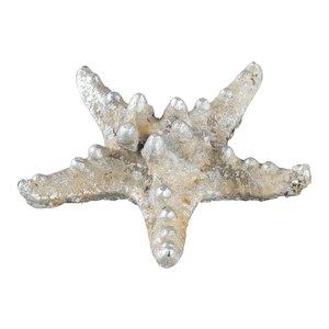 Seashell cream starfish statue