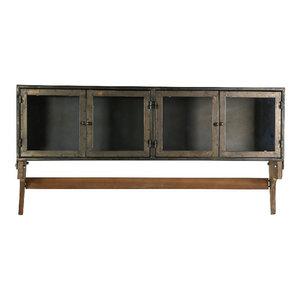 Wallcabinet metal glass