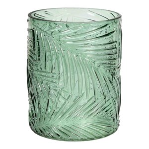 Tayla Green Glass Stormlight Leaf  Groen