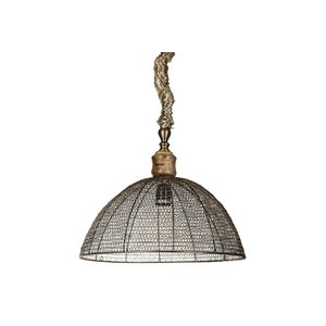 PTMD iron brass bowl open hanging lamp