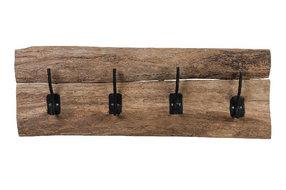 PTMD Coat rack wood 4 hooks