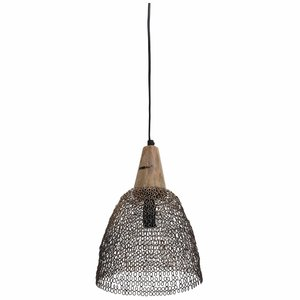 PTMD tinn Iron brass round hanging lamp open s