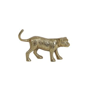 Ornament 20,5x5,5x13 cm PANTHER gold