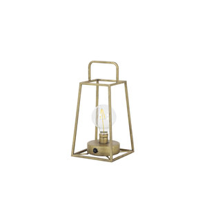 Table lamp lantern LED 15x15x30,5 cm FAUVE antiq bronze+lamp