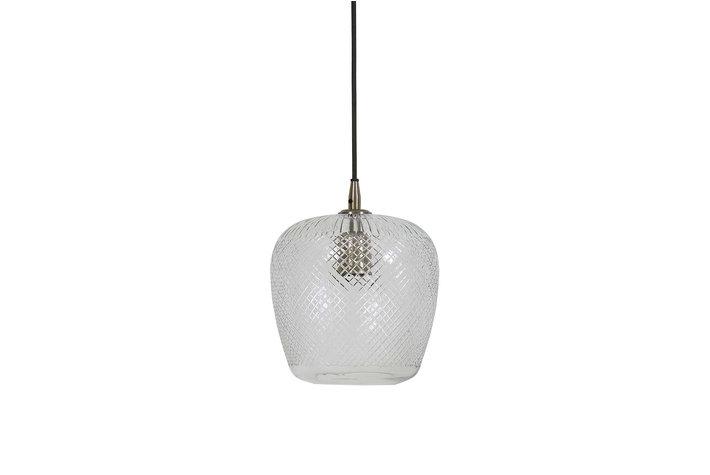 Light en Living Light & Living Hanging lamp Ø20x26 cm DYENNA clear glass+antique bronze