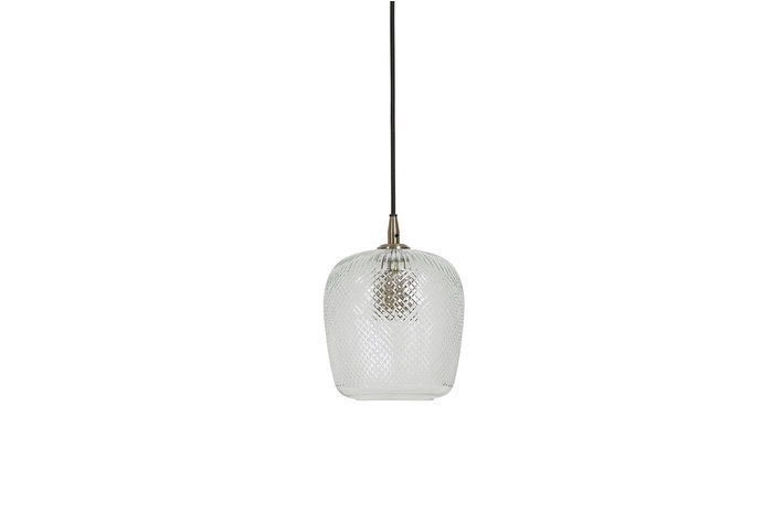 Light en Living Light & Living Hanging lamp Ø17x22 cm DYENNA clear glass+antique bronze