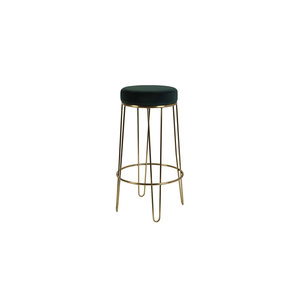 Light & Living Barstool Alice velvet dark green+gold