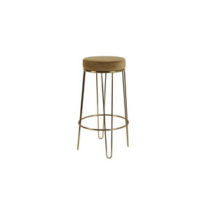 Light & Living Barstool Alice velvet caramel+gold
