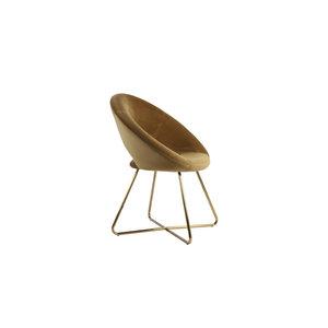 Chair 72x59x84 cm CHARLIE velvet caramel+gold