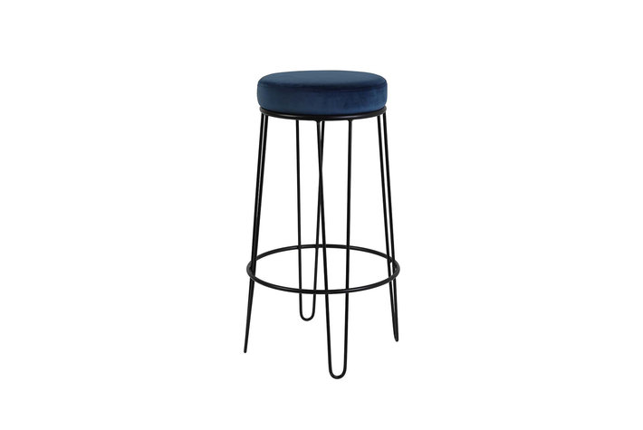 Light en Living Light & Living Barstool Alice velvet dark blue+black