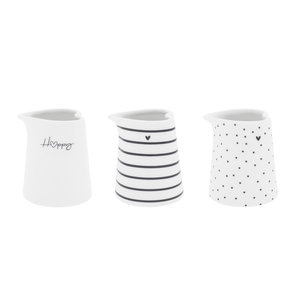 Bastion Collections Jug White / Dots / Stripes / Heart Ass
