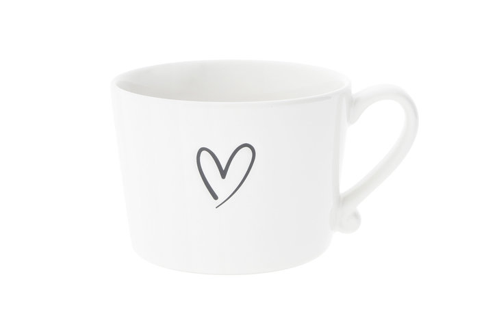 Bastion Collections Bastion Collections Cup white / heart Black debossed