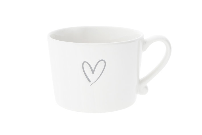 Bastion Collections Bastion Collections Cup white/heart Grey desbossed