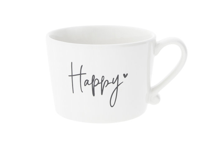 Bastion Collections Bastion Collections Cup white Happy in Black