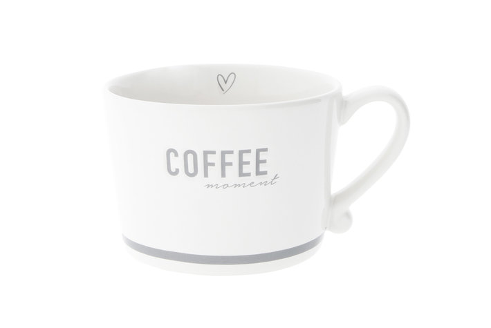 Bastion Collections Bastion Collections Cup white Coffee in Grey