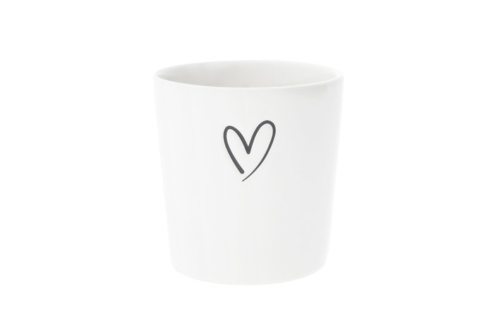 Bastion Collections Bastion Collections Cup with heart debossed in black