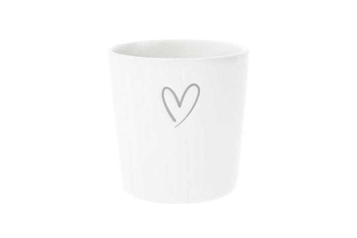 Bastion Collections Bastion Collections Cup with heart debossed in Grey