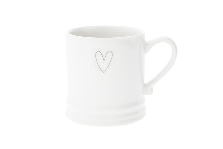 Bastion Collections Bastion Collections White/Heart relief in Grey