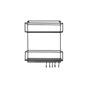 Bastion Metal Rack black two layers w. hooks