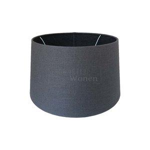 Lampenkap donker grijs rond 25cm | 8244-83