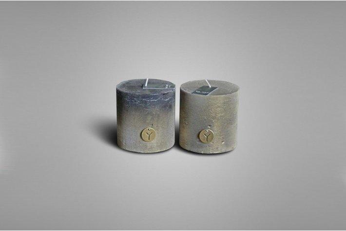 Brynxz Brynxz sort. rustic candle black/matt gold 10cm