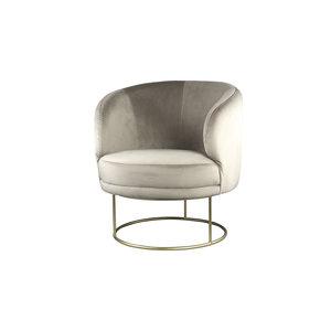 PTMD Xelena Velvet Sand fauteuil