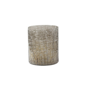 PTMD Sly Silver glass tealight sparkle round S