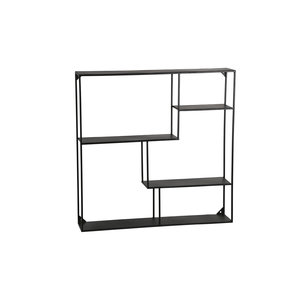 PTMD Mae Black iron wall shelf
