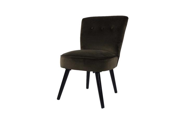 Home society Chair danielle velvet groen