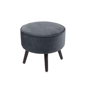 Footstool tess velvet grijs