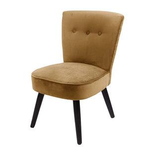 Chair danielle velvit oker geel