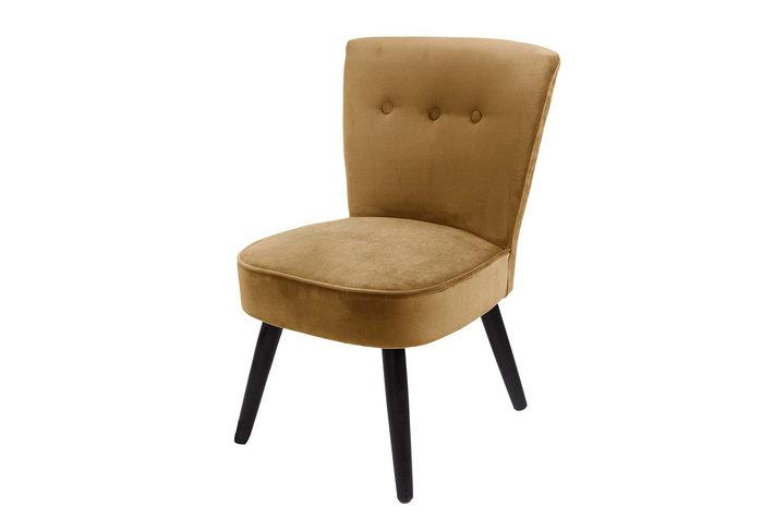 Home society Chair Danielle velvit oker geel
