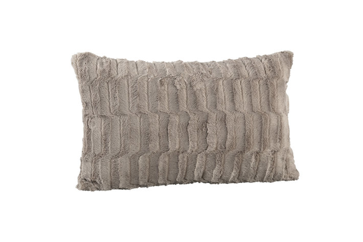 PTMD PMTD Denzy Taupe faux fur cushion rectangle