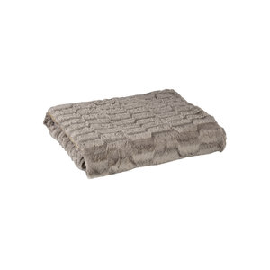 PMTD Denzy Taupe faux fur blanket L