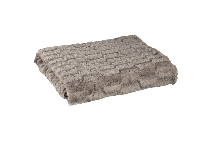PTMD PMTD Denzy Taupe faux fur blanket L