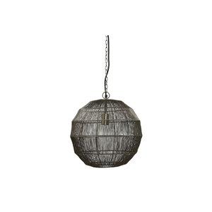 PMTD Zezz Brass wire hanging lamp ball S