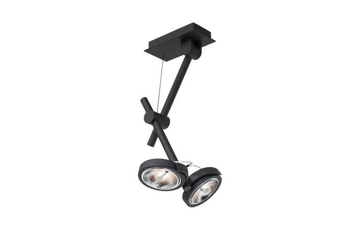 Maretti Lighting Maretti opbouwspot 2-L LED zwart structuur by Kolenik 13.1241.04.A