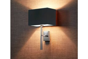 Maretti Lighting Maretti hilton S wandlamp chroom met zwarte kap