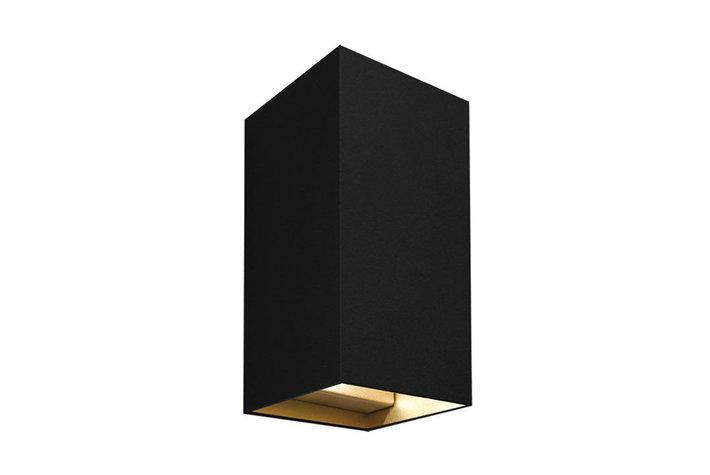 Maretti Lighting Maretti inlet wall up/down zwart binnenzijde goud