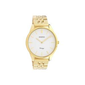 Oozoo horloge goud - wit | C9985