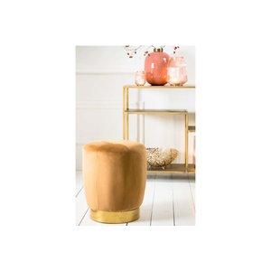 Light & Living Poef Ø41x48,5 cm SCARLETT velvet caramel+gold