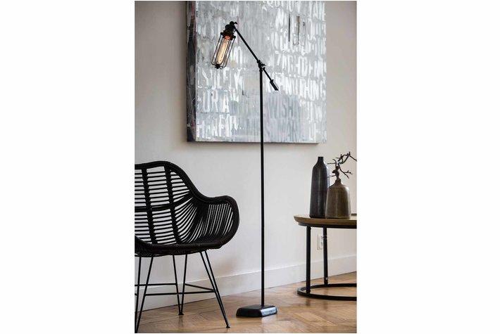 Light en Living Light & Living Vloerlamp devid zwart