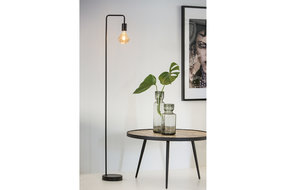 Light en Living Light & Living Industriele vloerlamp mat zwart incl lamp