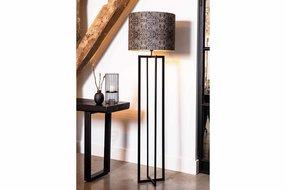 Light en Living Light & Living Vloerlamp mace  mat zwart