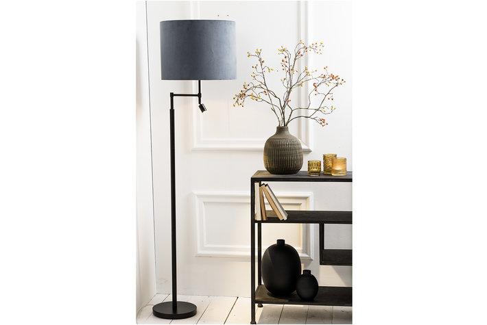 Light en Living Light & Living Vloerlamp montana zwart met led