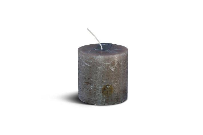 Brynxz Brynxz rustic candle brown 10cm